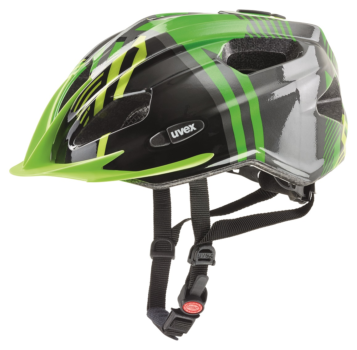 Uvex quatro junior black-green 50-55 cm